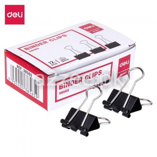 Deli Stationery - Binder Clip (12 Clips Per Box)
