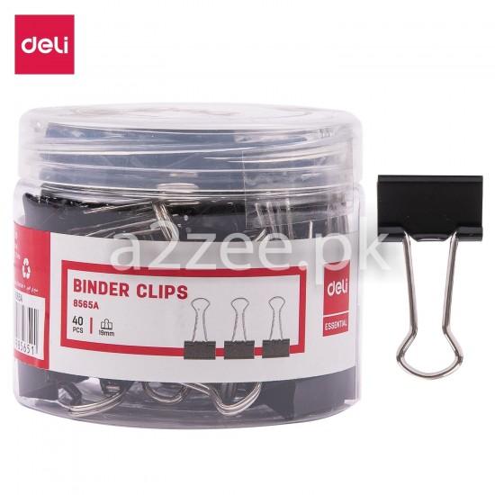 Deli Stationery - Binder Clip (40 Clips Per Box)