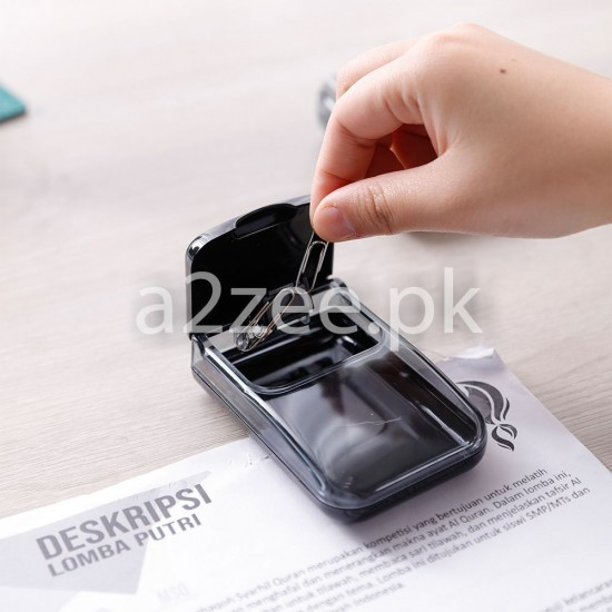 Deli Stationery - Fingertip Moistener/Paper Clip Box (01 Per Piece)