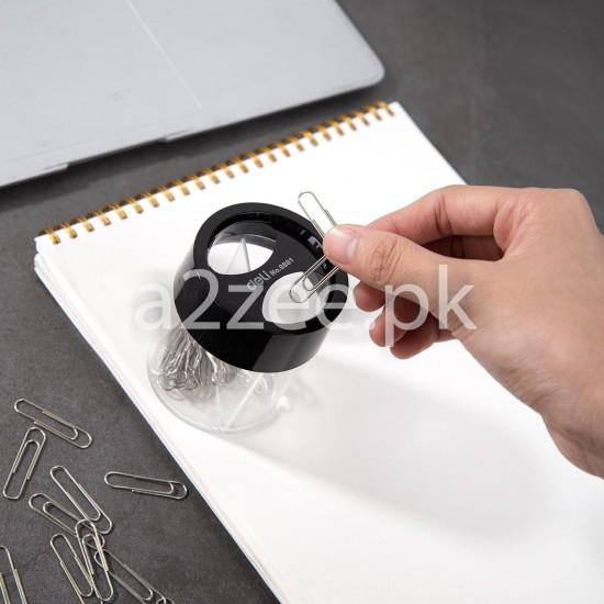 Deli Stationery - Fingertip Moistener/Paper Clip Box (01 Piece)