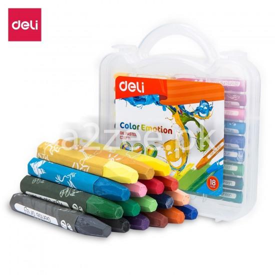 Deli Stationery - Oil Pastel (18 colors)
